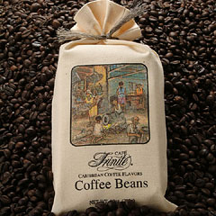 Trinite Caribbean Coffee Flavors Beans Sacks